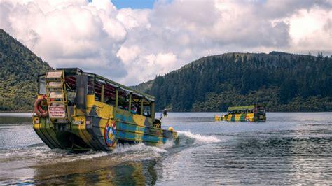 duck boat rotorua rotorua duck tours hibious vehicle city lakes tour