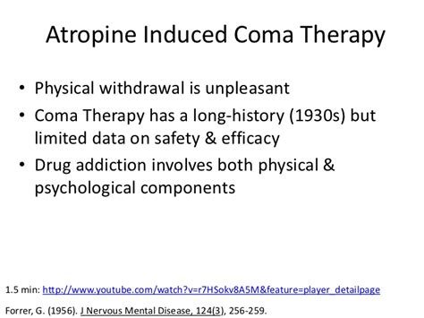 Coma Induced Detox by Muscarinic Agonists And Antagonists