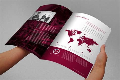 report template indesign annual report brochure indesign template on behance