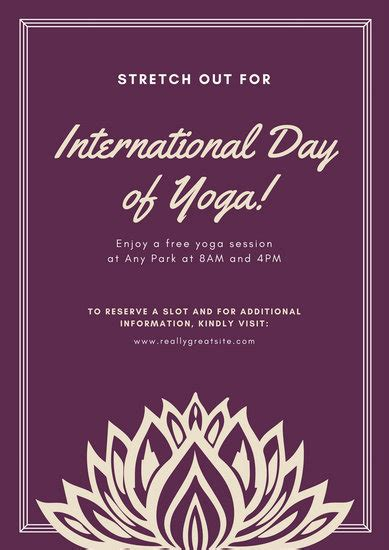 canva yoga poster event poster templates canva