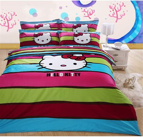 queen hello kitty comforter set dhl free shipping cute hello kitty queen size 100 cotton