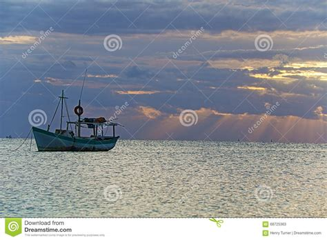mexican fishing boat sunrise view of mexican fishing boat in puerto juarez