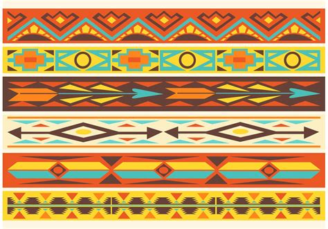 navajo pattern vector free native american pattern vector borders download free