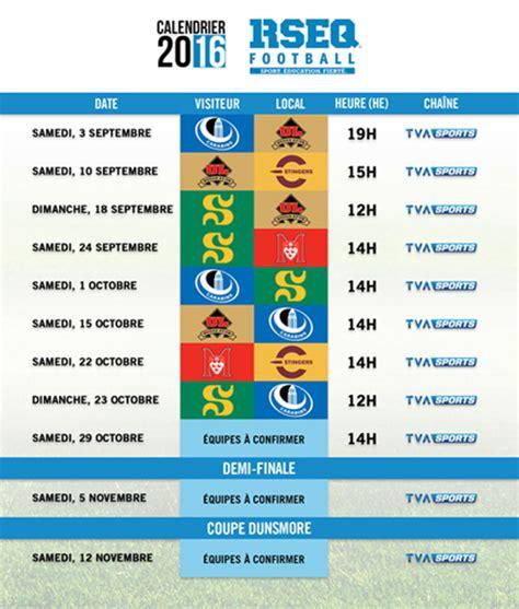 Calendrier Universitaire Laval Le Rseq Et Tva Sports D 233 Voilent Le Calendrier De La Saison