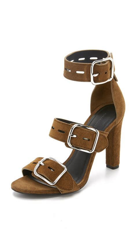 bridget sandals wang bridget suede sandals in brown lyst