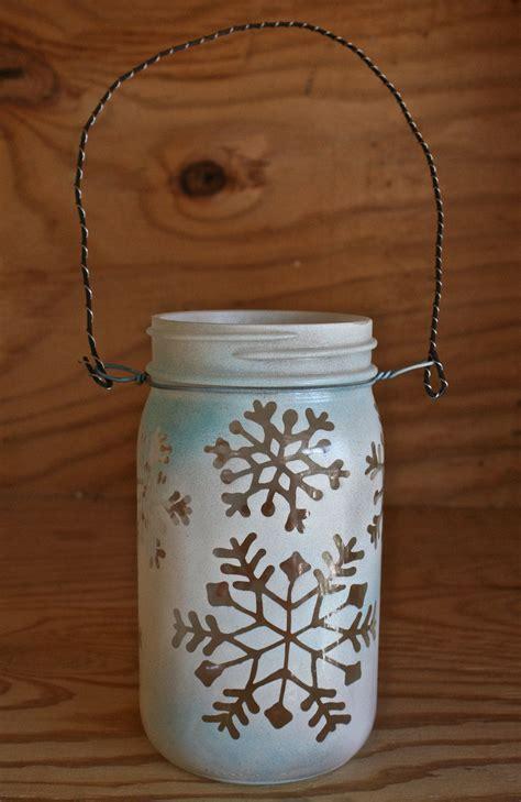 Mason Jar Lantern, Snowflakes Christmas and Winter