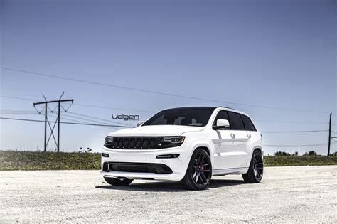 white jeep black rims white jeep srt8 velgen wheels vmb5 satin black 22x10