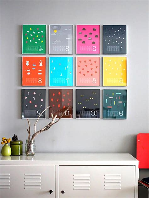 wall decoration at home diy home decor with colorful frame on wall olpos design