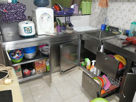 Rak Piring Kitchen Set jual pabrikasi stainless steel kitchen equipment kitchen set cabinet table with dish rack drawers