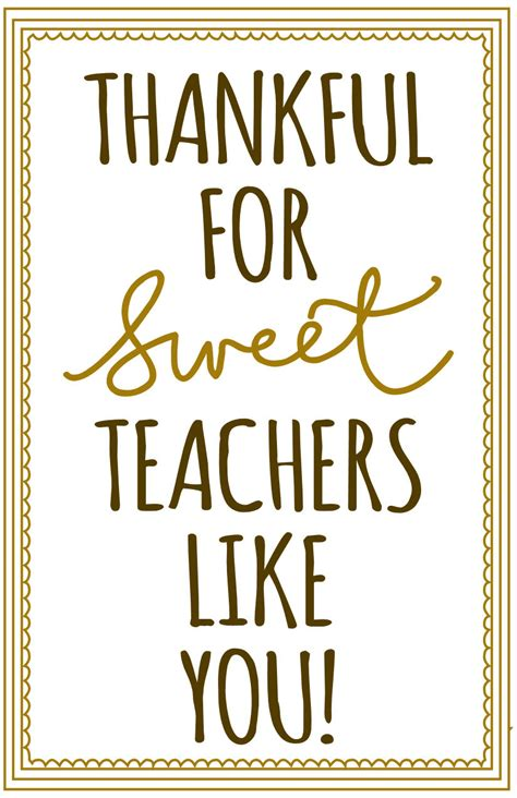 printable thankful quotes thankful for sweetteachers like you free printable for