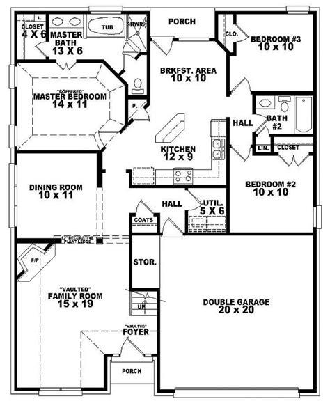 Garage Plans With Bathroom by 3 Br Duplex W Garage Plans Bedroom 2 Bath Style
