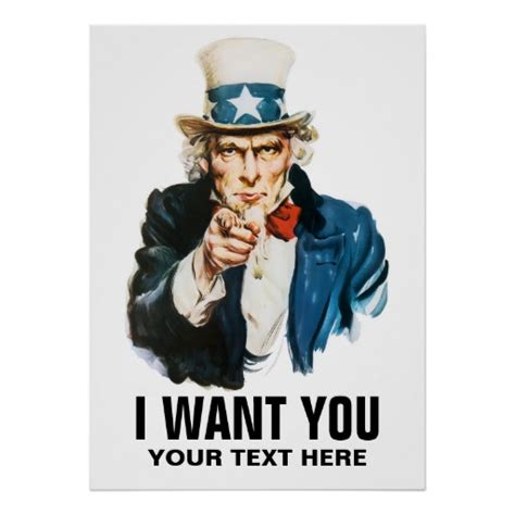 uncle sam i want you vintage poster zazzle