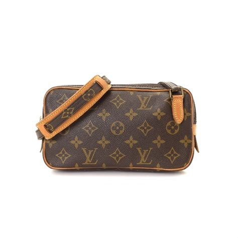 Tas Louis Vitton Kw 12a louis vuitton pochette marly bandouliere monogram coated canvas lxrandco pre owned luxury