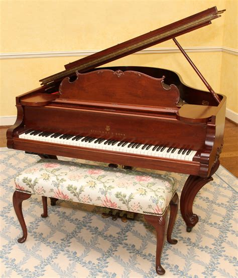 steinway bench steinway sons mahogany grand piano and bench 1908
