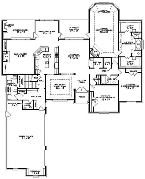 3 4 bath floor plans 4 bedroom 3 bathroom house plans 2017 house plans and