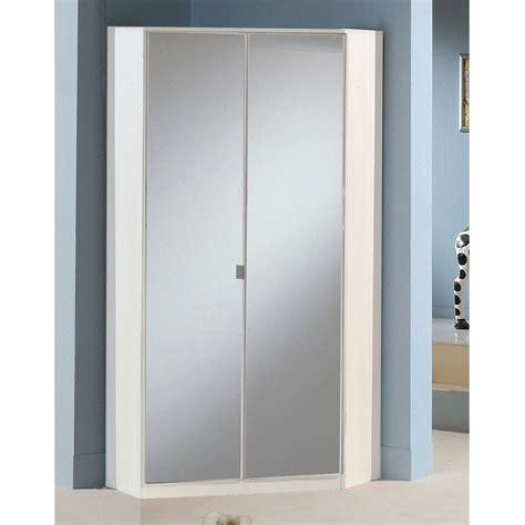 armadio angolare armadio angolare ciclamino ii in bianco opaco e specchio