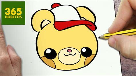 imagenes de dibujos kawaii a lapiz como dibujar oso kawaii paso a paso dibujos kawaii