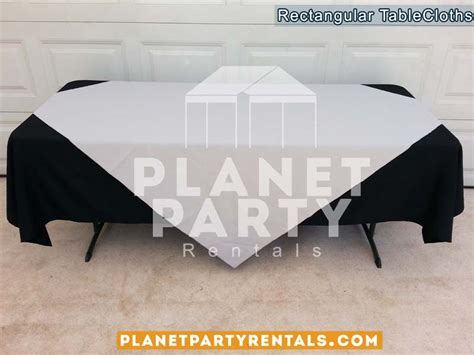 tablecloths rectangular tables