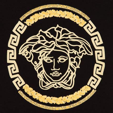 logo versace black versace baby boys black t shirt with gold medusa logo childrensalon