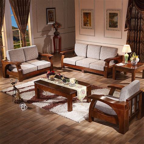 Solid Wood Sofa Modern Chinese Living Room Furniture The Wood Table Ls Living Room