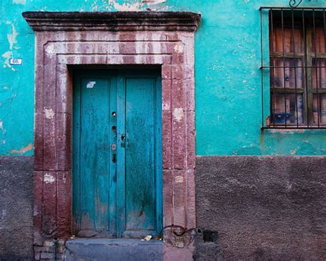 Mexican Door by Mexico Photography San Miguel De Allende Photo House Wall Door