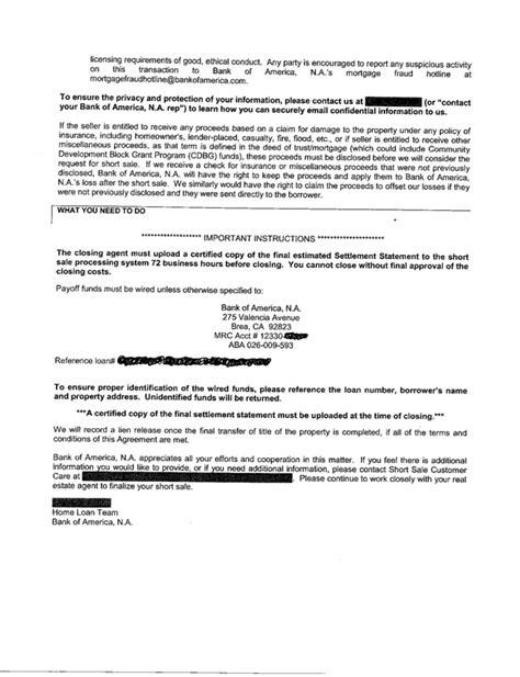 Advance America Loan Approval Letter Bank Of America Sale Approval Letter New Exle