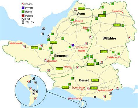 map uk somerset dorset somerset map