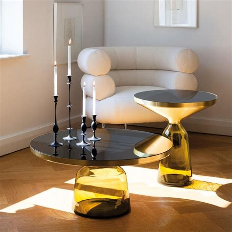 Bell Table by Bell Coffee Table Brass Classicon Ambientedirect
