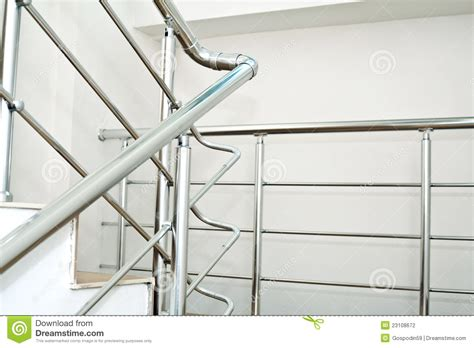 chrome banisters chrome railing stock photography image 23108672