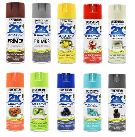 rust oleum spray paints primers