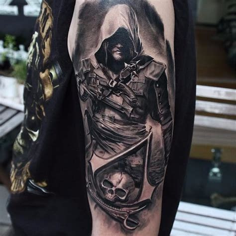 assassin creed tattoo designs 12 badass assassins creed tattoos tattoodo