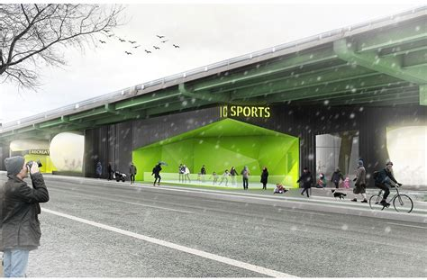 food truck design center design firm reimagines neglected space under the bqe as a