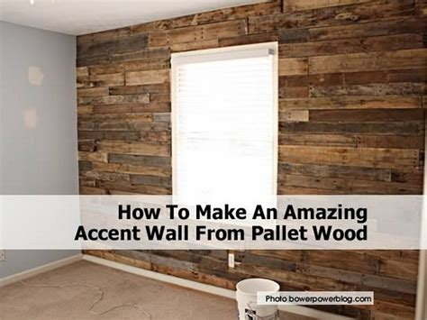 accent wall made out of pallets pallet wood projects how to make an amazing accent wall from pallet wood