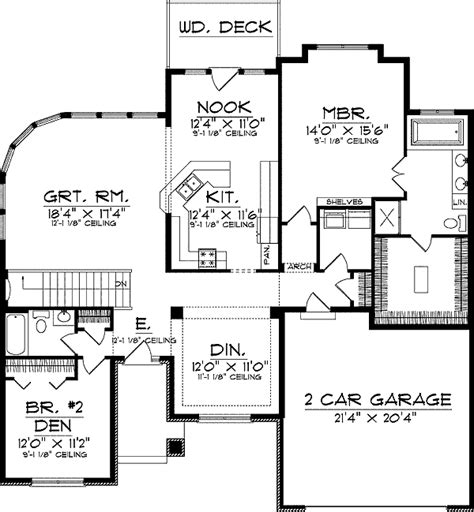 House Plans With Window Walls | great room with curved window wall 89374ah