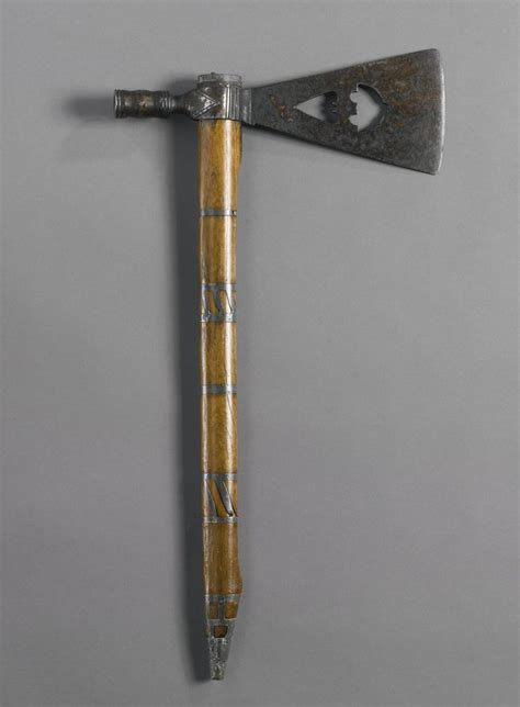 metal tomahawk plains wood and metal pipe tomahawk with cut