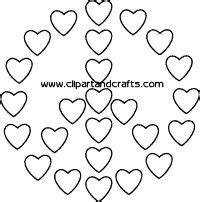 coloring pages of hearts and peace signs printable line art peace sign craft template or coloring