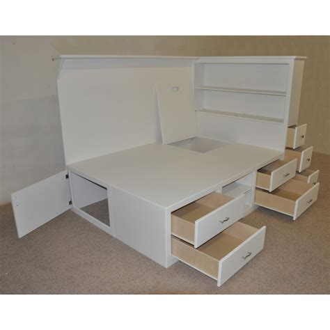 diy platform bed with drawers teen beds with storage underneath drawers multiple shelves
