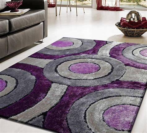 Modern Purple Rug with Contemporary Shag Rug 110 Purple