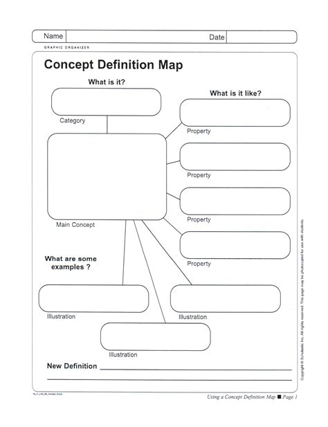 concept map definition printable concept map template free blank printable