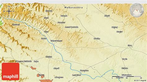 pune geographical map physical 3d map of kand