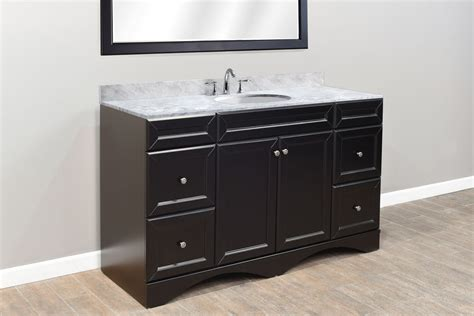 60 inch bathroom vanity top 60 inch single bathroom vanity in espresso with marble top
