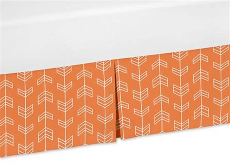 Orange Crib Bed Skirt Orange And White Crib Bed Skirt For Orange And Navy Arrow Childrens Bedding Sets Only 39 99