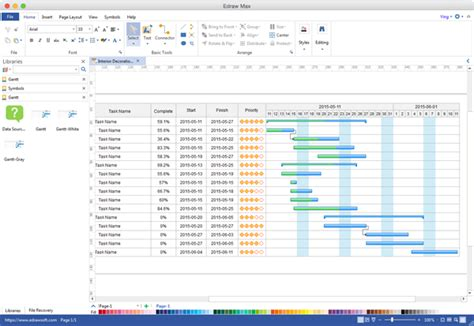 visio gantt chart gantt chart alternative to microsoft visio for mac