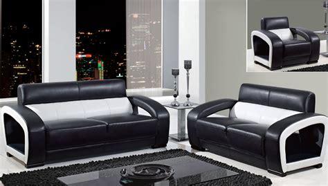 Global furniture black and white leather modern sofa loveseat beautiful black and white