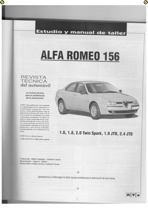 how to download repair manuals 1992 alfa romeo spider free book repair manuals alfa romeo 156 manual de taller