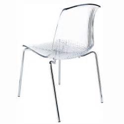 chaise en plexiglas chaise design en plexi transparent allegra 4 pieds