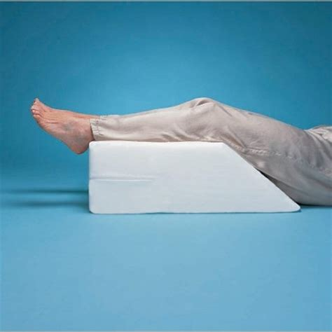 pillow to elevate legs in bed elevated leg rest wedge pillow foot and leg positioning