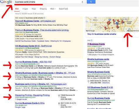 Business Search Local Search Engine Marketing And Business Cards