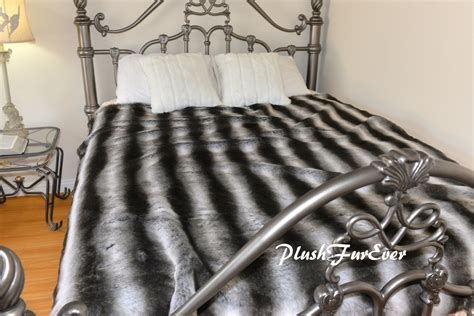 fur coverlet faux fur bedspread coverlets kings size gray silver black