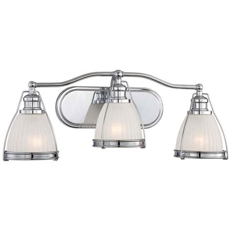 Minka Lavery Bathroom Lighting Minka Lavery 3 Light Chrome Bath Vanity Light 5793 77 The Home Depot